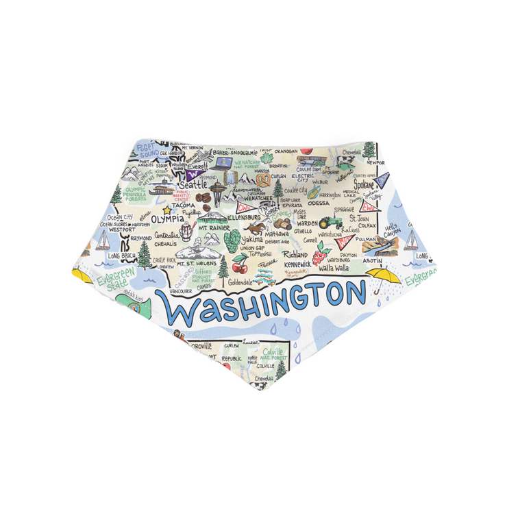 Washington Baby Bandana Bib