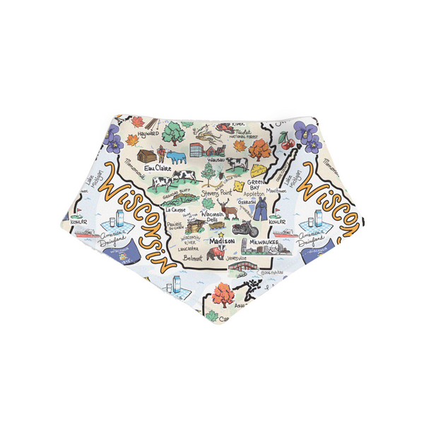 Wisconsin Small Bandana - Face Covering or Bib