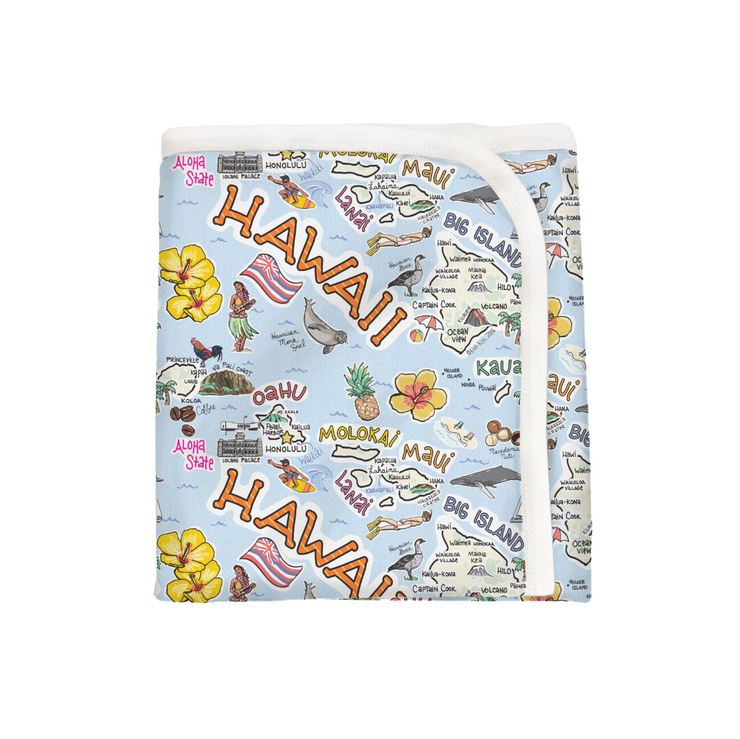 Hawaii Map Baby Blanket - PIMA