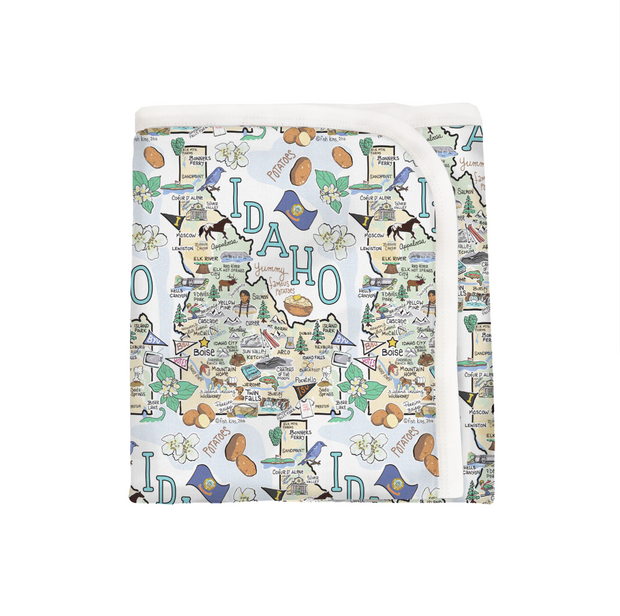 Idaho Map Baby Blanket - PIMA