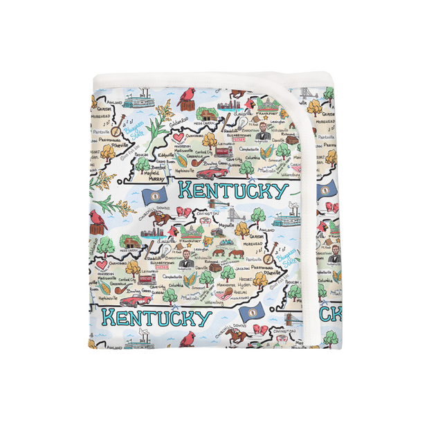 Kentucky Map Baby Blanket - PIMA