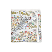 ORGANIC COTTON - North Carolina Map Baby Blanket