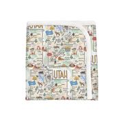 Utah Map Baby Blanket - PIMA