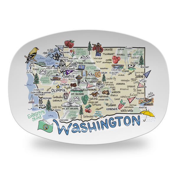 Washington Map Platter - High End Plastic