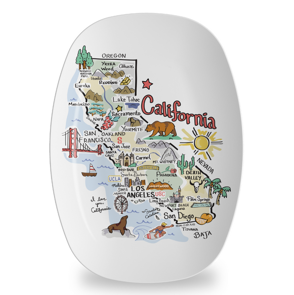 California Map Platter