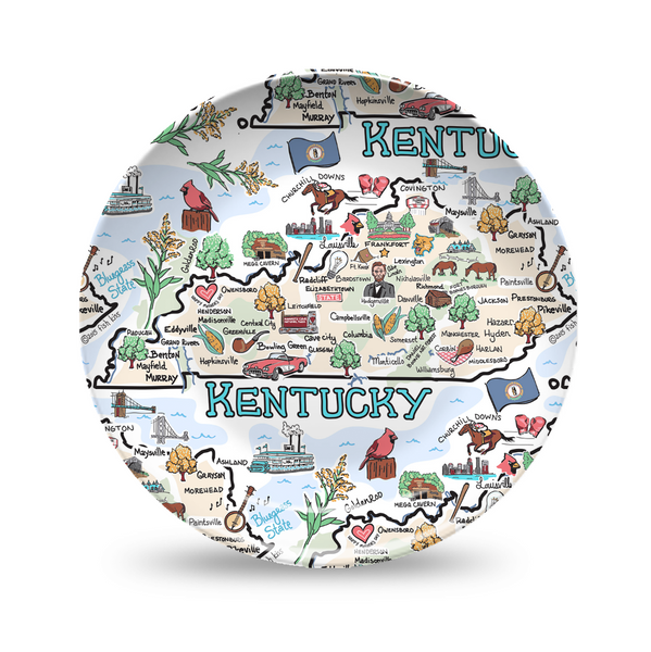 Kentucky Map Repeat Plate