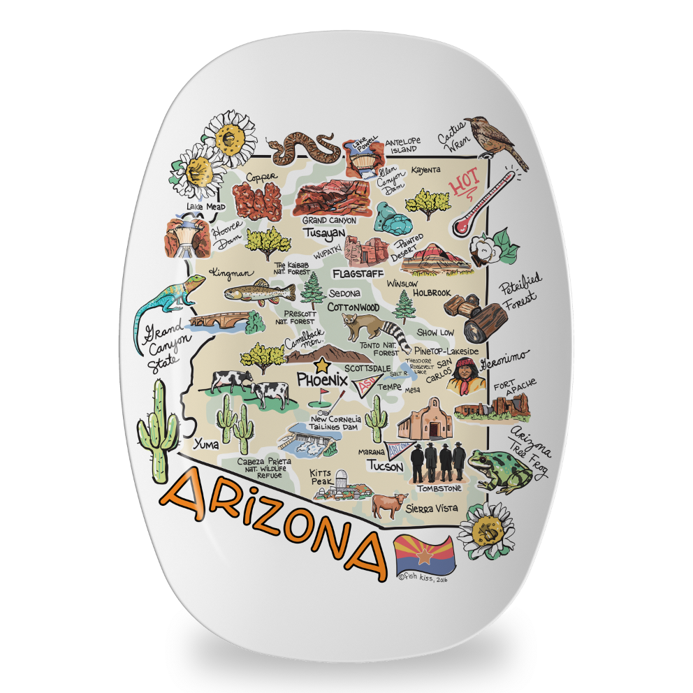 Arizona Map Platter