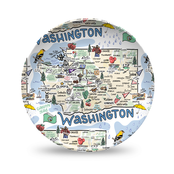 Washington Map Plate