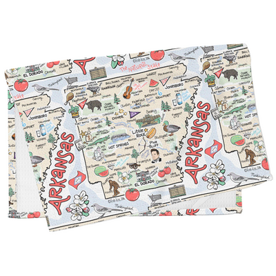 Arkansas Map Tea Towel