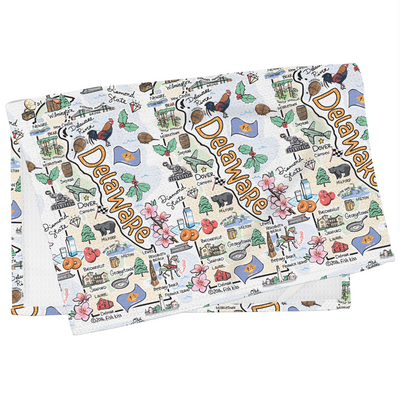 Delaware Map Tea Towel