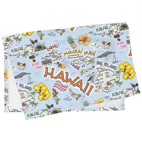Hawaii Map Tea Towel