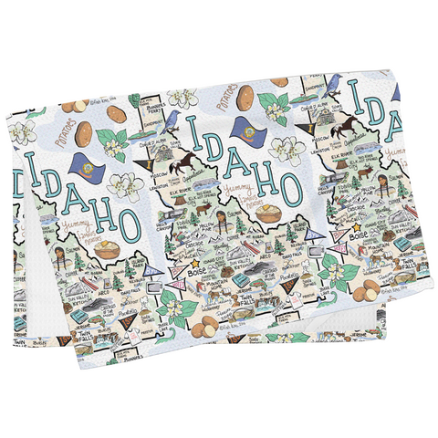 Idaho Map Tea Towel