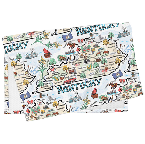 Kentucky Map Tea Towel