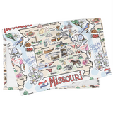 Missouri Map Tea Towel