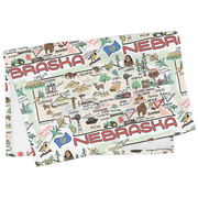 Nebraska Map Tea Towel