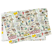 New Mexico Map Tea Towel