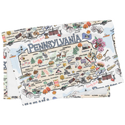 Pennsylvania Map Tea Towel