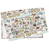 South Dakota Map Tea Towel