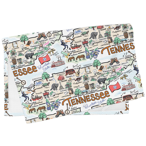 Tennessee Map Tea Towel