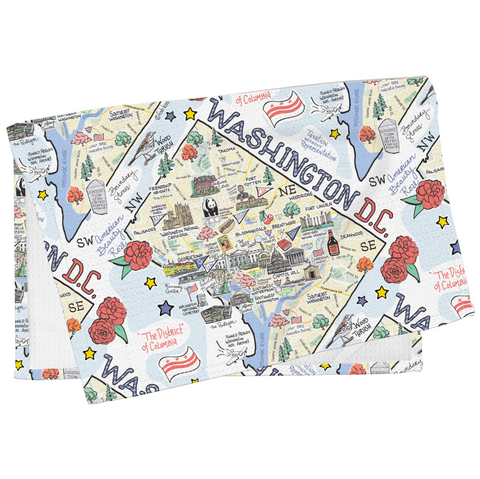 Washington D.C. Map Tea Towel