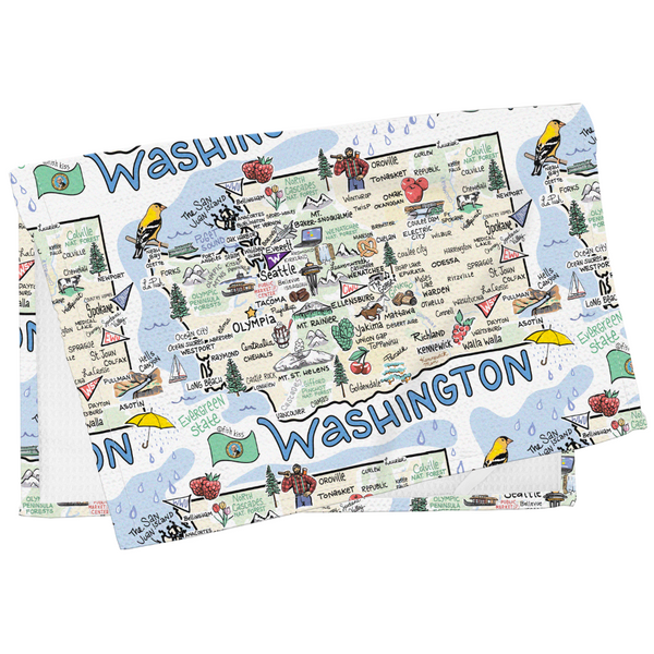 Washington Map Tea Towel