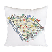 South Carolina Map Pillow