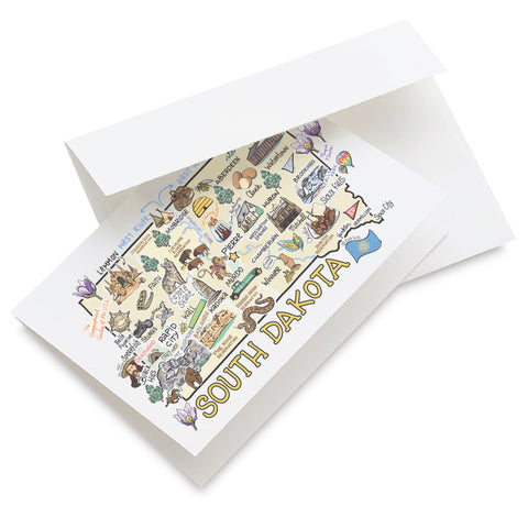 South Dakota Map Greeting Card