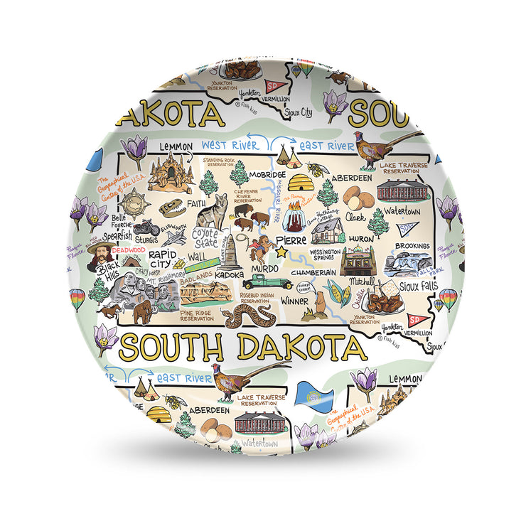 South Dakota Map Plate