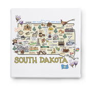 South Dakota Square Canvas Art