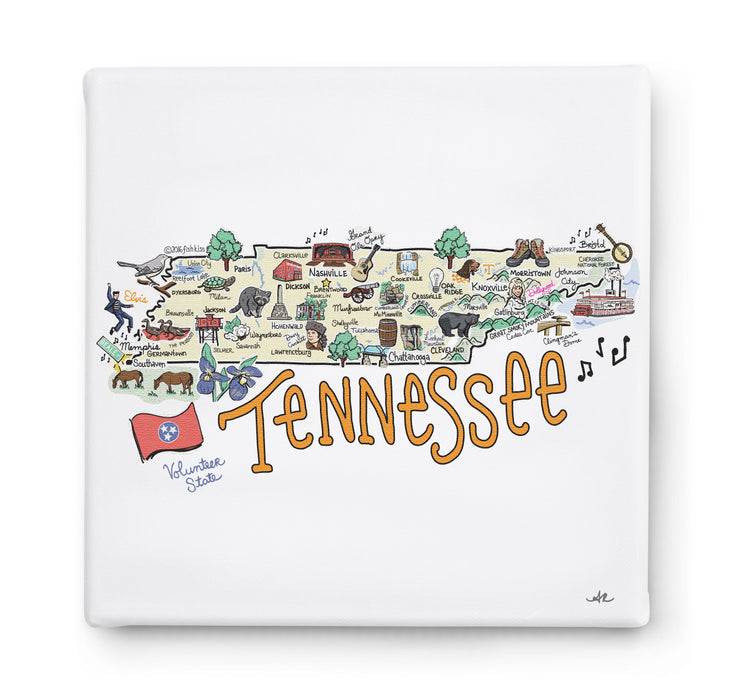 Tennessee Square Canvas Art