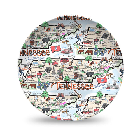 Tennessee Map Plate