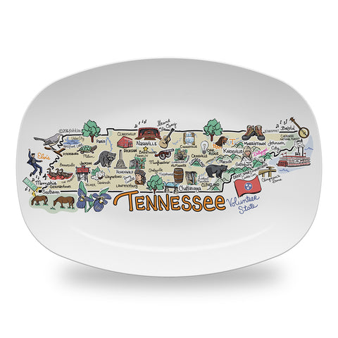 Tennessee Map Platter