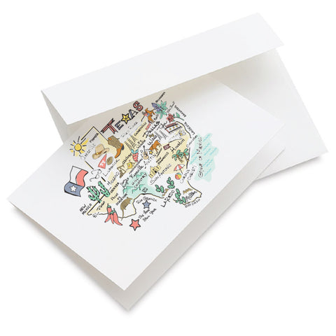 Texas Map Greeting Card