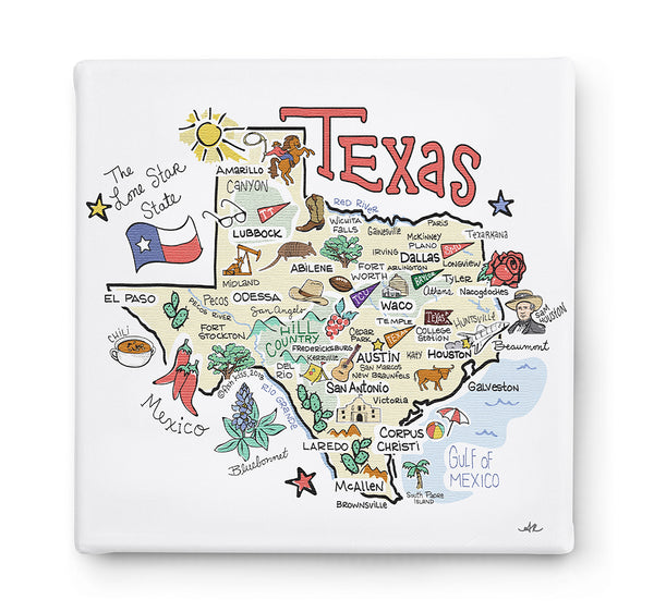 Texas Square Canvas Art