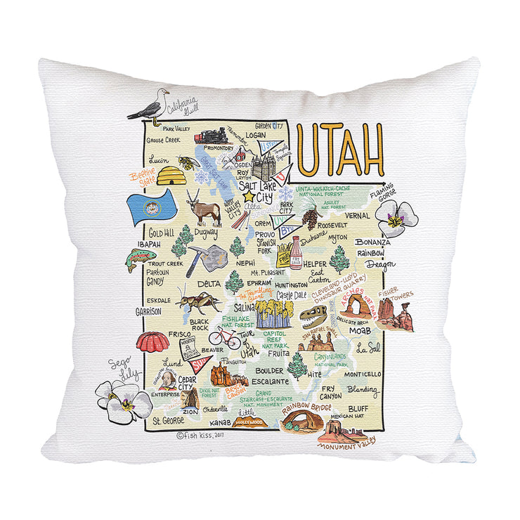 Utah Map Pillow