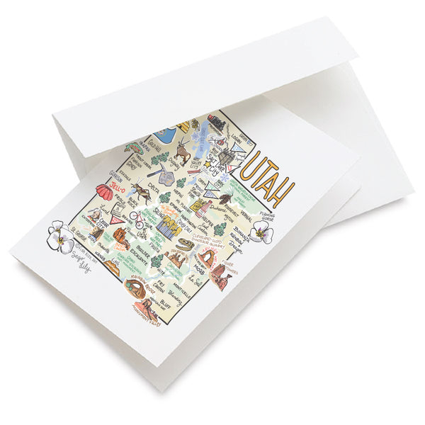 Utah Map Greeting Card