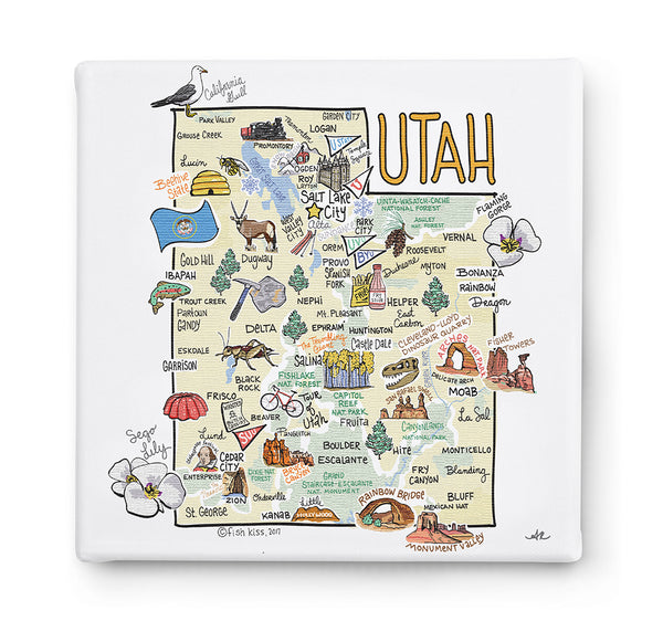 Utah Square Canvas Art
