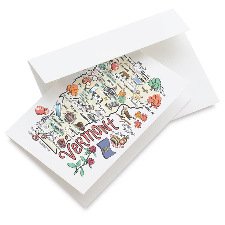 Vermont Map Greeting Card
