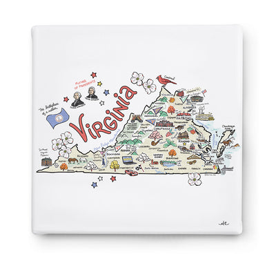 Virginia Square Canvas Art