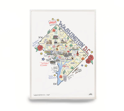 Washington D.C. Map Print