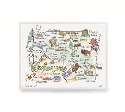 Wyoming Map Print