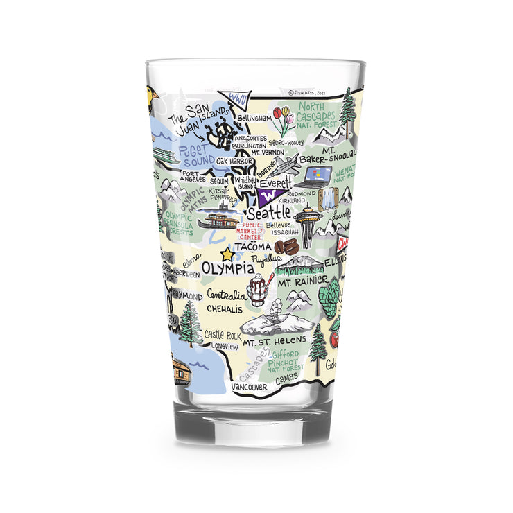 Washington 16 oz. Glass