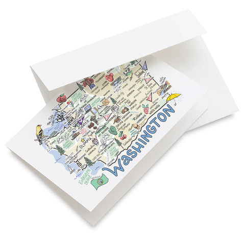Washington Map Greeting Card