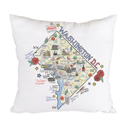 Washington D.C. Map Pillow