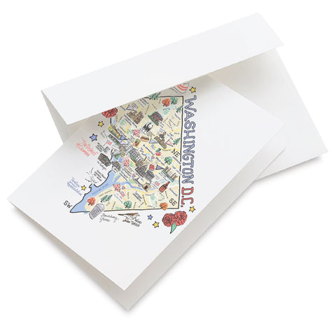 Washington D.C. Map Greeting Card