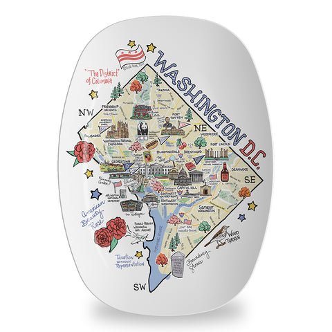 Washington D.C. Map Platter