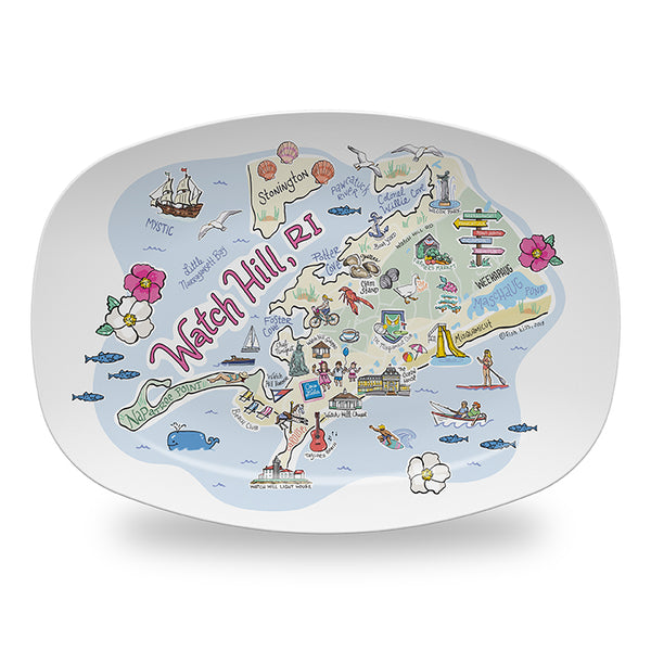 Watch Hill Map Platter