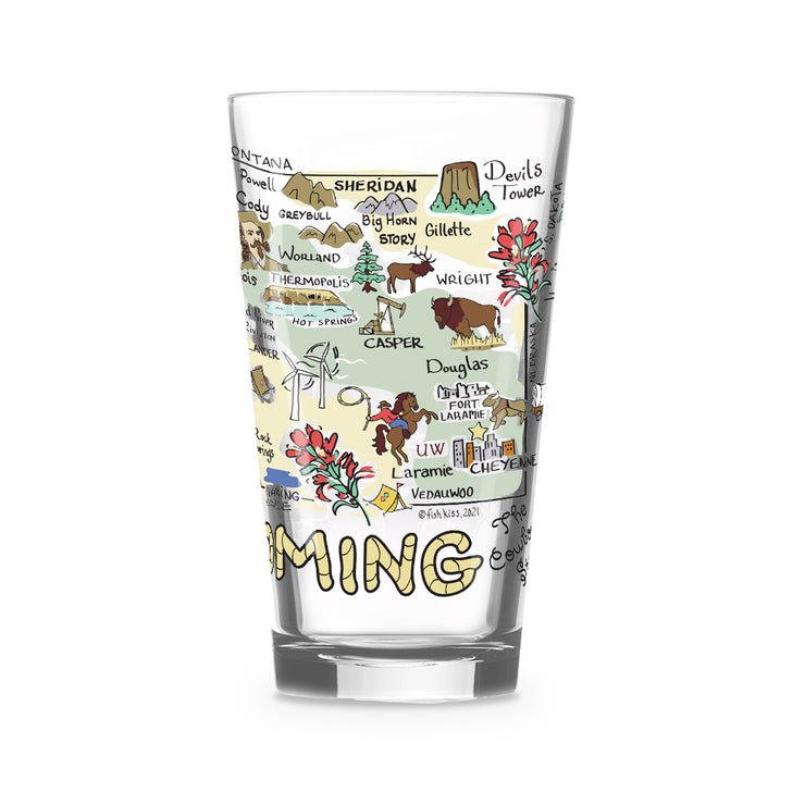 Wyoming 16 oz. Glass
