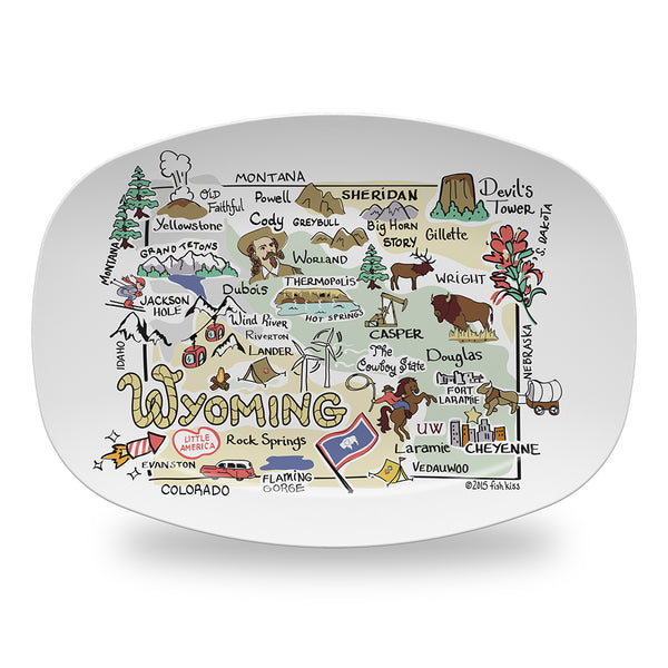 Wyoming Map Platter