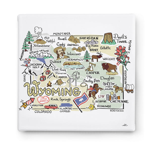 Wyoming Square Canvas Art